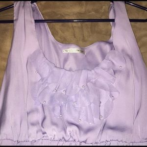 Maurice 3x lavender dress with ruffle & lined